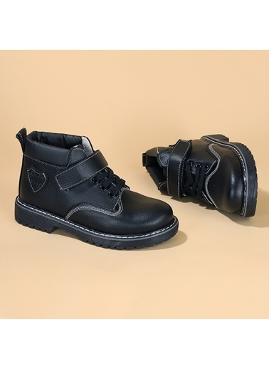 Kiko Kids Kiko şb 1513 Termo Taban Cırtlı Erkek Çocuk Bot Ayakkabı Siyah